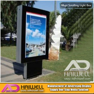LED Static Mupi Light Boxes con profilo in alluminio